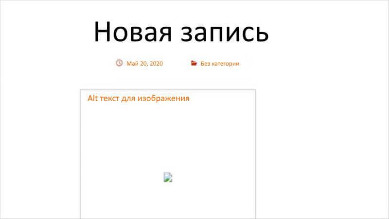 Alt текст отображается в контейнере с изображением