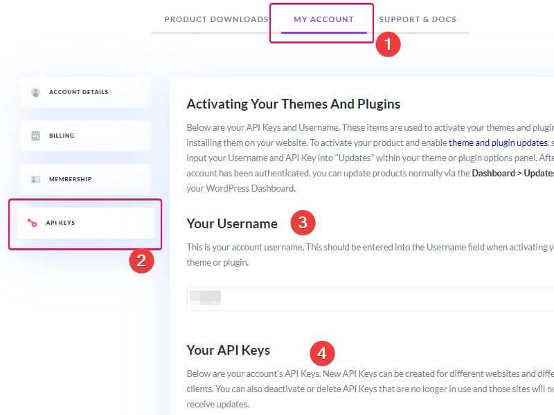 Формирование ключа API