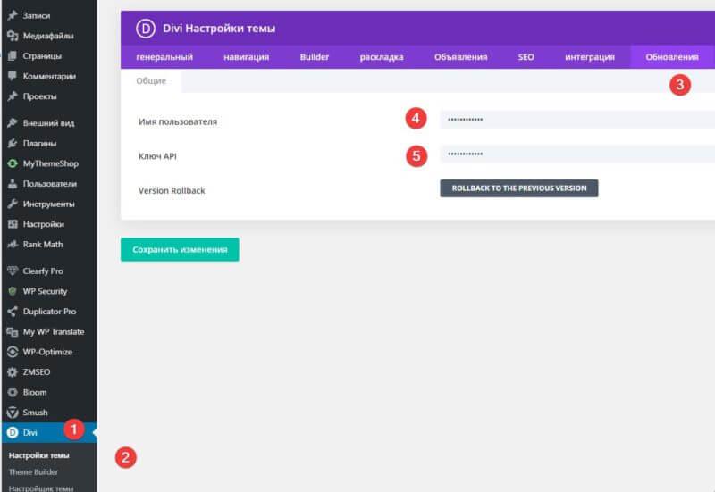 Ввод API на сайт