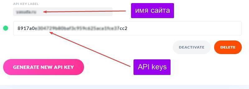 Генерация API Keys